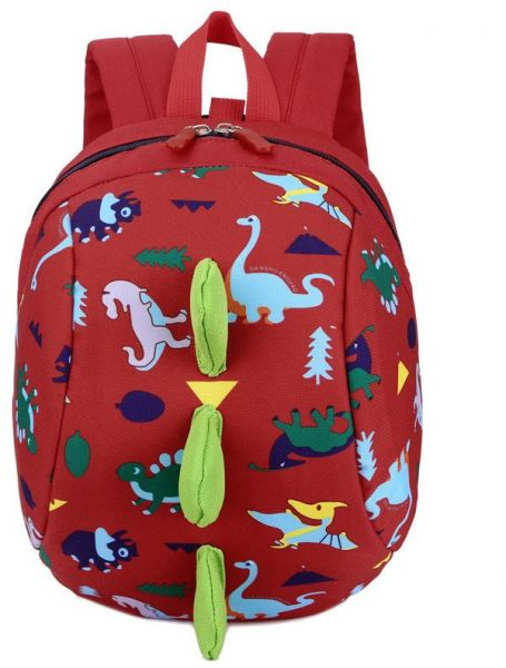 db12d0b8e Kids Toddler Backpack with Safety Harness Playful Preschool Kids Lunch Bag  Walking Safety Harness Toddler Leash Anti-lost Package Dinosaur,Red | Souq  - UAE