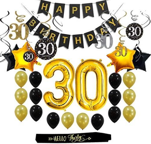 30th Birthday Decorations Gifts Party Supplies For Him Her Men Women