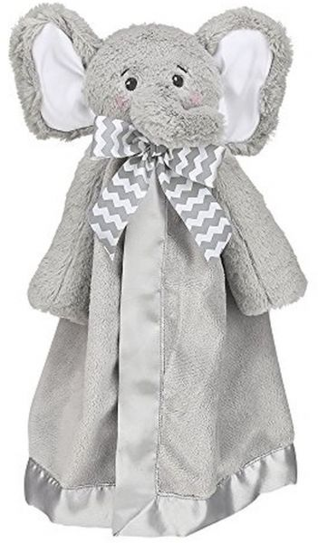 Bearington Baby Lil 39 Spout Snuggler Gray Elephant Plush Stuffed