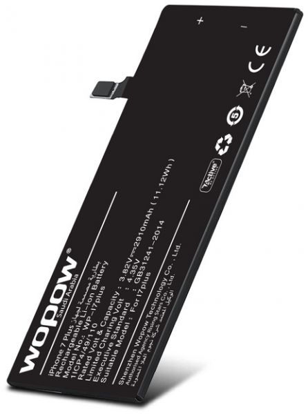 Wopow Internal Battery for iPhone 7 Plus , 3 82V