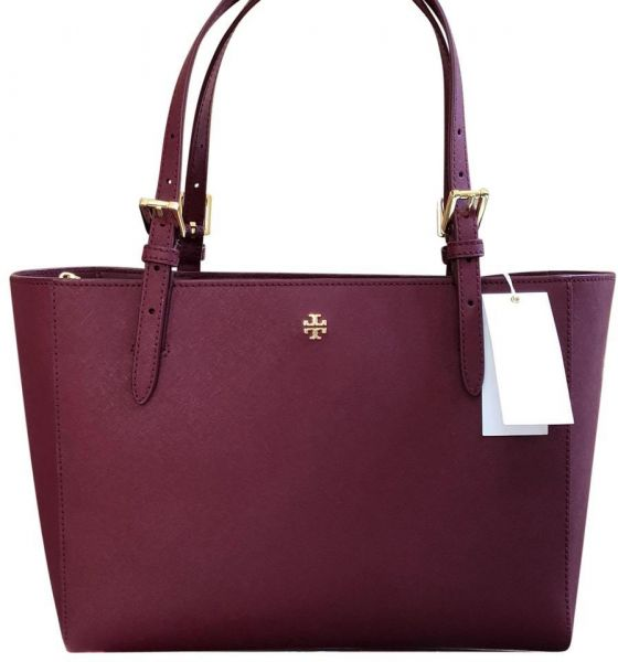 f7aefb88a8ff Tory Burch Women s Emerson Small Buckle Tote Bags - Imperial Garnet ...