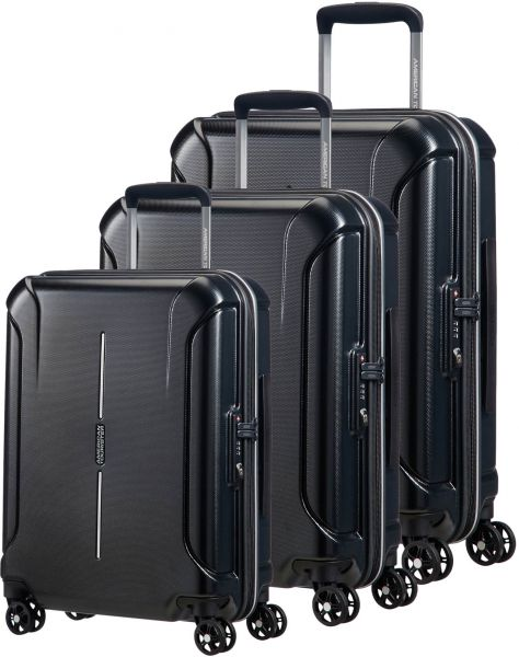 56a757d15d5b American Tourister Luggage Trolley Bags For Unisex, 3 Pieces - Black
