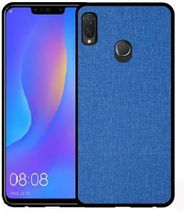 Huawei Nova 3i - Protective TPU Blue Cloth Back cover Case