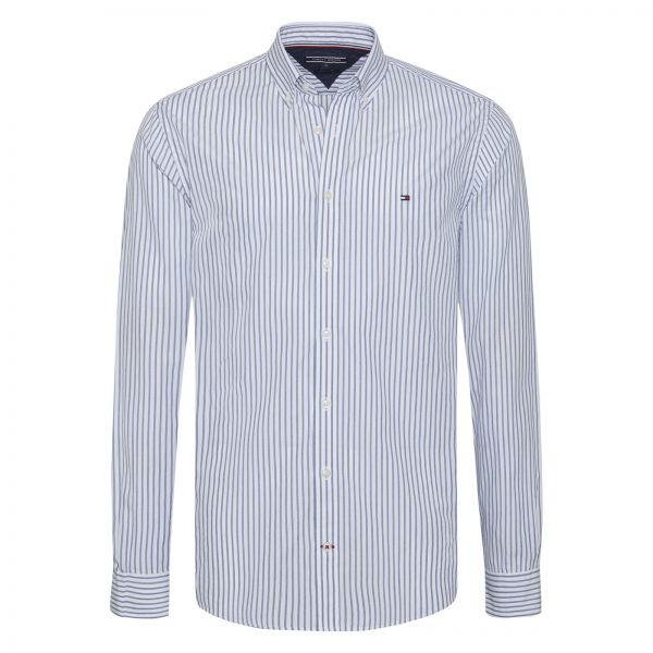 148361ceb5acca Tommy Hilfiger Shirt for Men - Blue   White