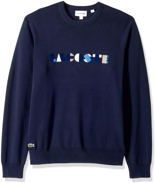 c4051b7cc309 Lacoste Printed Sweater for Men - Navy Blue