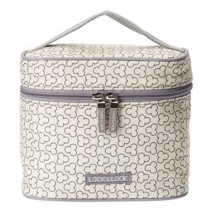 Lock & Lock Lunch Boxes With Clover Pattern Bag