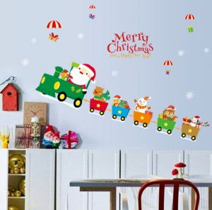 Santa Claus Wall Stickers Bedroom Living Room Background Decorative
