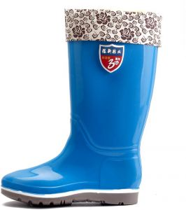 Mid-Calf Warm Rain Boots Waterproof Anti-Slip Rubber Sole Shoes Blue for  Women yx12-4.5UK 1bd13a1e78