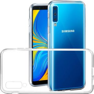 Samsung Galaxy A7 2018 Case JIENI Transparent TPU Silicone Protection Bumper Scratch Resistant Skin Back Shell Case Cover