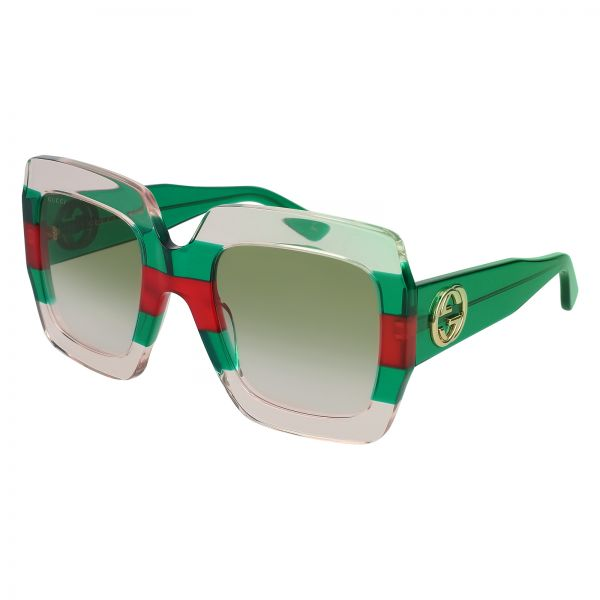 1cff0aed03d Gucci Square Sunglasses for Men - Green Lens