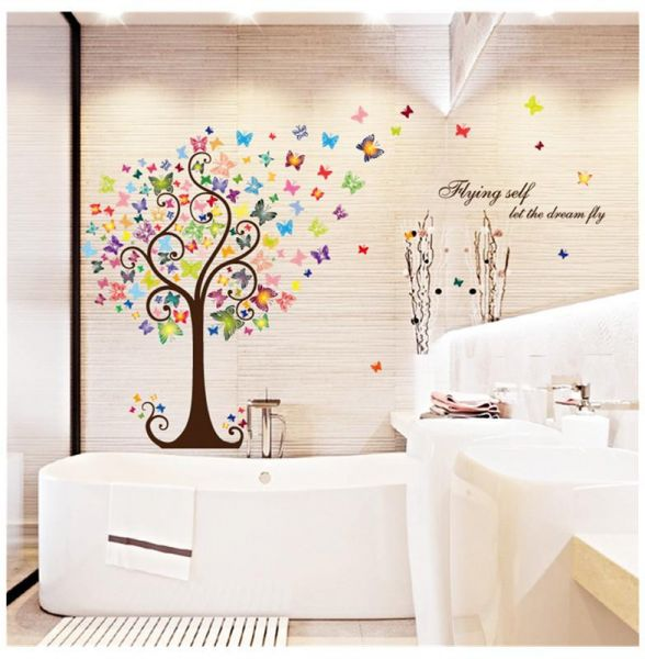 diy creative romantic butterfly tree wall sticker removable wall