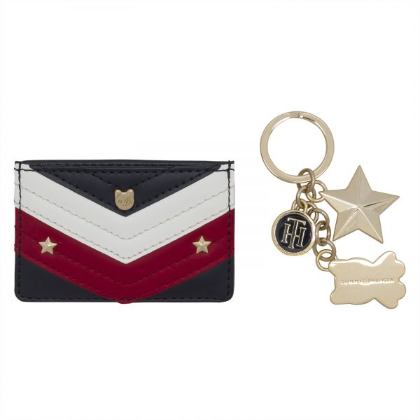 Tommy Hilfiger Card Holder with Keychain for Women - Navy  0a41102105