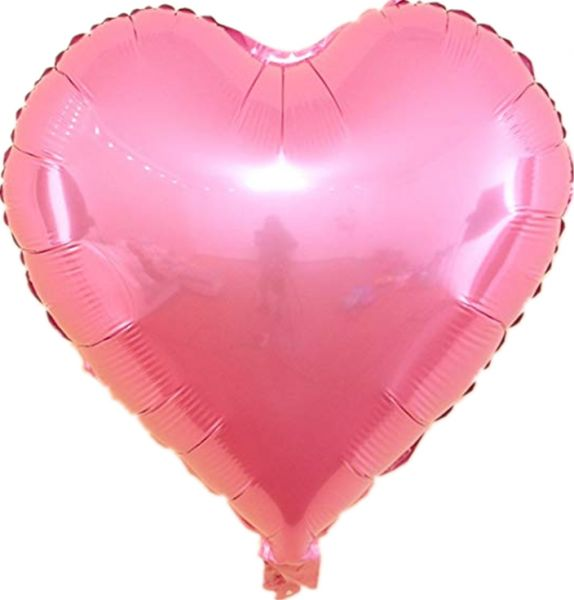 Foil BalloonsLOVE Heart Shape Helium Wedding Birthday Party Christmas Decoration Approx 45cm 5piecesPink