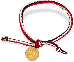 Pure two-ply leather cord bracelet hand wax rope silver anklet gold transfer beads beaded black and red hand-woven rope men and women
