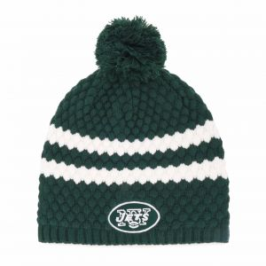 b362141484f62 NFL New York Jets Women s Winona OTS Beanie Knit Cap with Pom