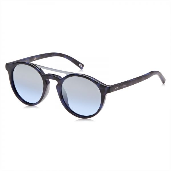 1866721356d Marc Jacobs Round Sunglasses for Unisex - Silver   Gray Lens