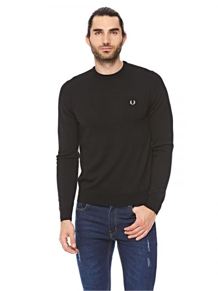 0f48cc1c0 Fred Perry Black Round Neck Pullover Top For Men