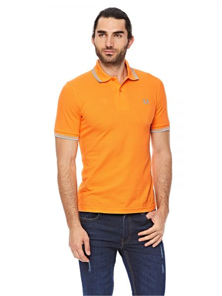 fb9116ccd Fred perry Orange Shirt Neck Polo For Men