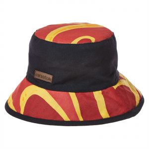 Carambole Bucket Hat for Women - Black   Orange 86e804390
