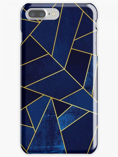Blue Stone / Yellow Lines Phone Case for Apple Iphone 7 Plus