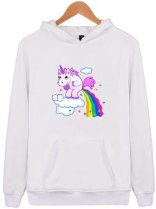 200d40defc48 Fashion Unicorn Personality Trend Plus Velvet Hooded Sweater Men and Women  Long-sleeved Shirt Hoodie Pullover Casual Jersey Shirt