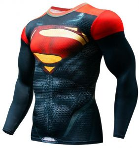 fffc49c93ff Cycling Fitness Base Layer Compression Shirt Men Anime Bodybuilding Long  Sleeve Crossfit 3D Super hero superman printed tops cycling top Bicycle  Clothing