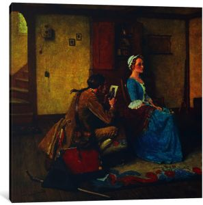 iCanvasART 1-Piece Doctors Office Canvas Print by Norman Rockwell 26 x 18//0.75 Deep