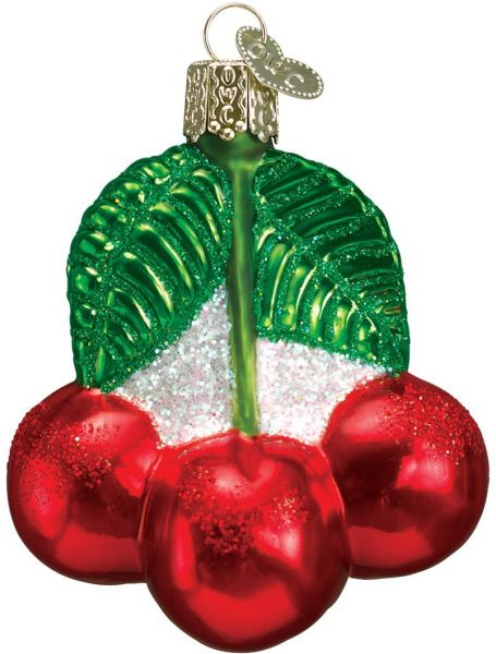 Old World Christmas Ornaments: Cherries Glass Blown Ornaments for Christmas Tree | Souq - UAE