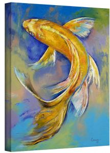 7c373ba676d7 ArtWall Orenji Butterfly Koi Gallery Wrapped Canvas Art by Michael Creese