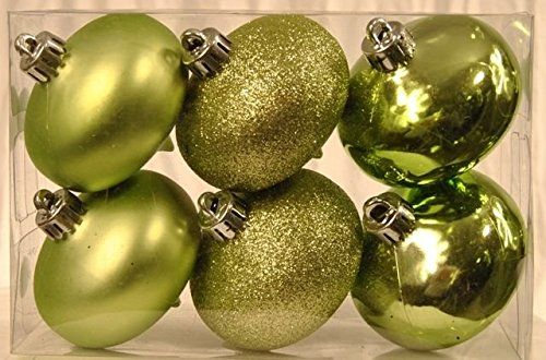 Queens Of Christmas Wl Onion S 6pk Sg 6 Pack Smooth Shatterproof Ornaments Sage Green Souq Uae