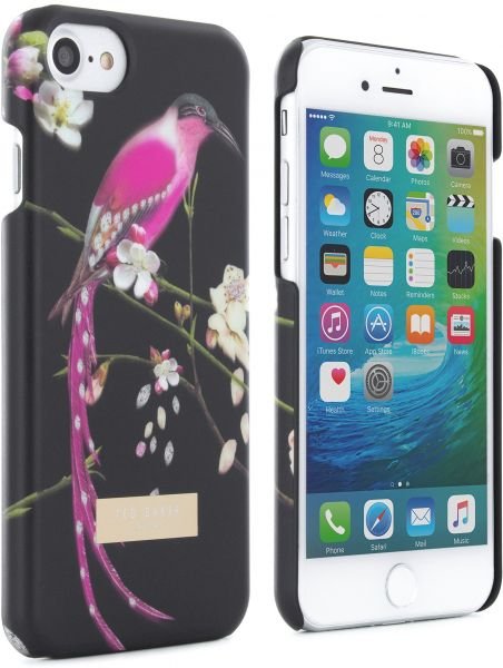 online retailer aae4a 753b4 Ted Baker iPhone 7/6/6s Hard Shell Cell Phone Case, Black, Flight of ...