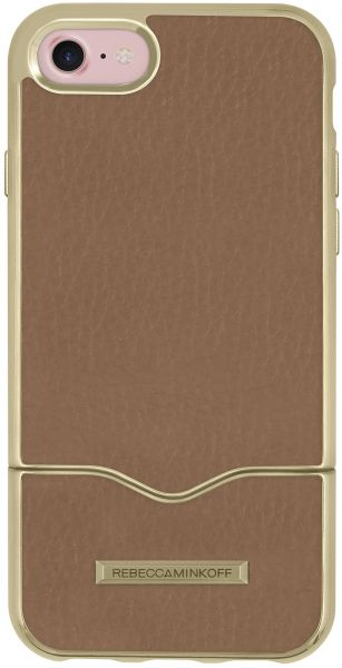 quality design 21256 ee661 Rebecca Minkoff iPhone 7 Case, Slide Case [Shock Absorbing] Phone Case fits  Apple iPhone 7 - Almond Leather