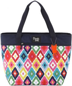 French Bull Large Tote Bag - Insulated, Women, Girl, Lunch, Purse, Picnic - Kat