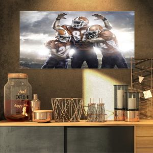 60 by 40//1.5 Deep iCanvasART 3 Piece American Bulldog 121609 Canvas Print by Dean Russo