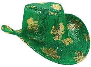 b4c0f500a9f4e St. Patrick s Day Sequined Cowboy Hat Costume Party Head Wear Accessory (1  Piece)