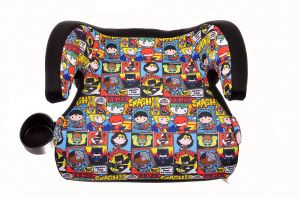 KidsEmbrace Justice League Booster Car Seat DC Comics Chibi Youth Backless Red