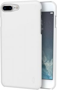 Silk iPhone 7 Plus/8 Plus Slim Case - Snap Shell for iPhone 7+/8+ [Ultra Slim Fit Soft-Touch Protective Cover] - Pearl White