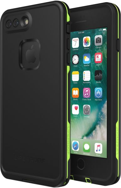 Lifeproof FRĒ SERIES Waterproof Case for iPhone 8 Plus   7 Plus (ONLY) -  Retail Packaging - NIGHT LITE (BLACK LIME)  e5be23097a