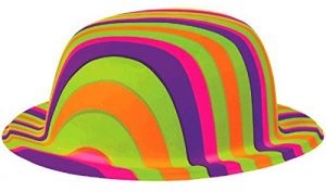 Amscan Groovy 60 s Party Rainbow Stripes Bowler Hat Accessory eb8406d201e7