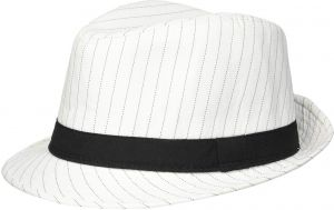 11b567da6dfb4 Loftus International 1920s Gangster Mob Boss Costume Pinstripe Fedora White  Black One Size Novelty Item