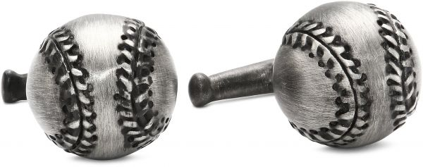 ROTENIER Atelier Sterling Silver Baseball and Bat Cufflinks