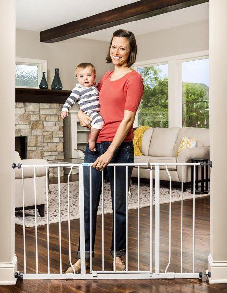 Regalo Easy Open 50 Inch Wide Baby Gate Pressure Mount With 2