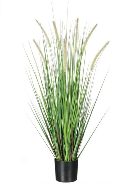 Sullivans Artificial Potted Dogtail Grass 36 Inches High Black Pot
