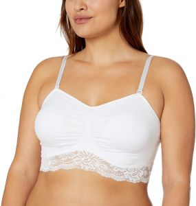 0f7a9739c3308 Ahh By Rhonda Shear Women s Seamless Lace Bra with Removable Straps