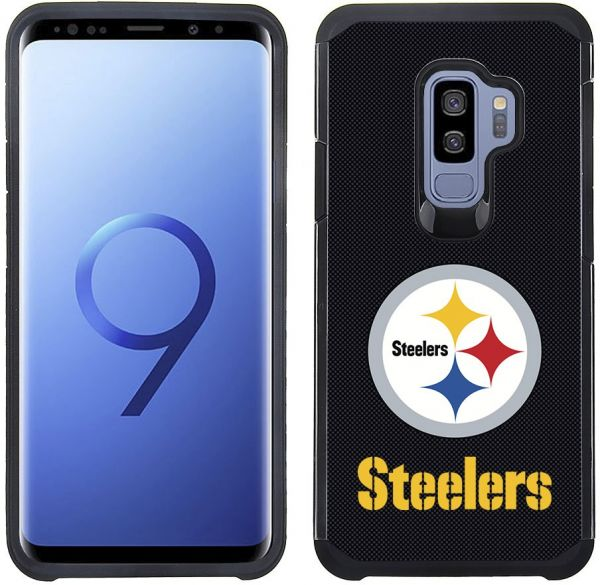 huge discount 6212a 1c068 Prime Brands Group Textured Team Color Cell Phone Case for Samsung Galaxy  S9 Plus - NFL Licensed Pittsburgh Steelers
