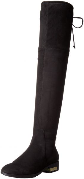 Guess Womens Zafira Riding Boot Black Suede 65 M Us Souq Uae