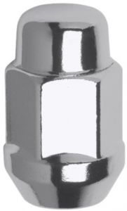 Pack of 20 White Knight 1707S-20AM Chrome Finish 12mm x 1.50 Thread Size Bulge Acorn Lug Nut, White Knight Wheel Accessories