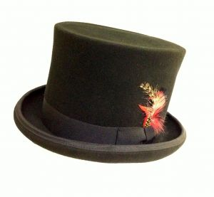 Jacobson Hat Company Wool Felt Bell Top with Satin Lining 7 Inch Tall 5776d4a0c62e
