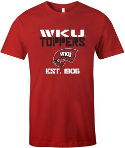 Western Kentucky Hilltoppers Youth XS XSmall Red Shirt by Anvil New