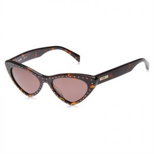 1ebd192ef1 Moschino Cat Eye Sunglasses for Women - Brown Lens